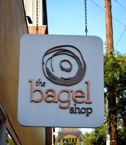 Bagel Restaurant Sign