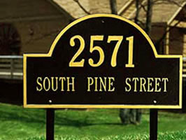 Residential sign on posts