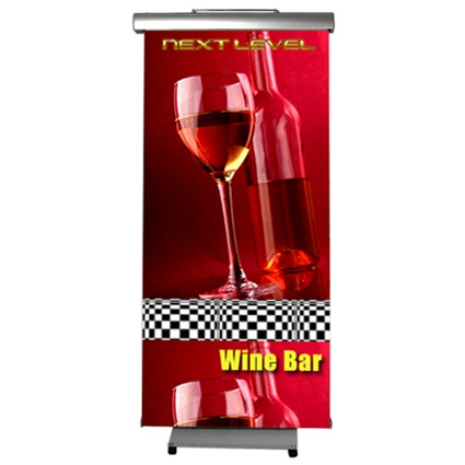 Banner stand example