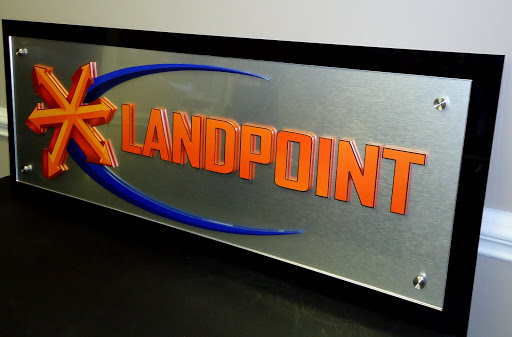 Example of raised letters on acrylic