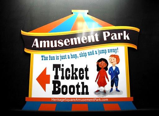 Custom amusement park sign