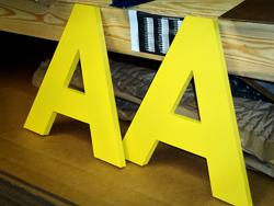 Custom cut wooden letters