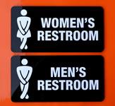 Custom acrylic bathroom signs