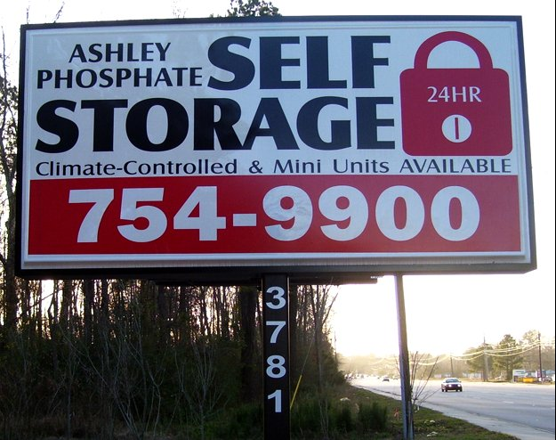 An example of custom roadside sign